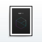 A4 / A3 format frame design with text. Vector EPS 10 Illustration Royalty Free Stock Photography