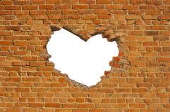 format hjärtahål arkivfoto