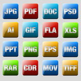 Format Icons Royalty Free Stock Photo