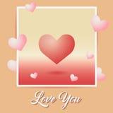 Format kort för ferie hjärta Royaltyfria Bilder