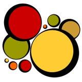 format retro för cirkelmodell vektor illustrationer