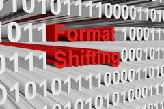 Format shifting. In the form of binary code, 3D illustration Royalty Free Stock Photo