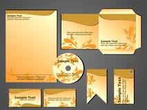 Format stationnaire de vecteur de scénographie d'affaires Illustration Stock