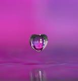format vatten för liten droppe hjärta Fotografering för Bildbyråer