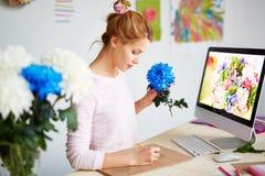 formatet för blomman för designeps-mappen inkluderar Arkivbild