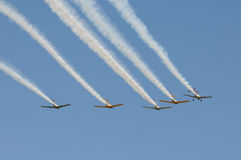 Formation of airplanes Stock Photography