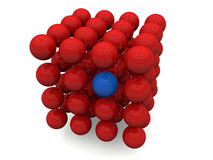 Formation of atoms Royalty Free Stock Photos