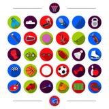 Formation, attributs, sport et toute autre icône de Web dans le style de bande dessinée Au lieu de cela, récompense, concurrence, illustration de vecteur