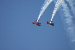 Formation of Biplanes Royalty Free Stock Photography