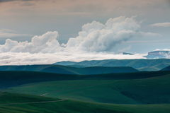 The formation of clouds over alpine meadows, storm clouds. Time lapse. Russia, the Caucasus Mountains, Kabardino-Balkaria. The formation of clouds over alpine stock footage