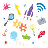 Formation of the concept of simple ideas Royalty Free Stock Photo