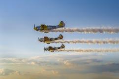 Formation d'Airplains Images libres de droits