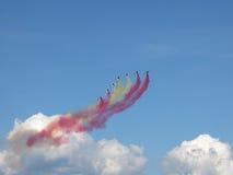 Formation d'avion dans le ciel Photos libres de droits