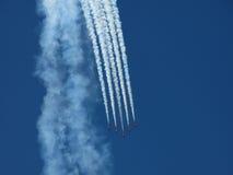 Formation d'avion dans le ciel Images libres de droits