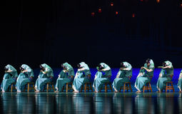 """Formation-Dance drama """"The Dream of Maritime Silk Road"""". Dance drama """"The Dream of Maritime Silk Road"""" centers on the plot of two generations of Royalty Free Stock Image"""
