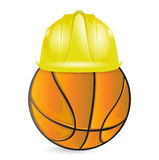 Formation de basket-ball. en construction Photos libres de droits