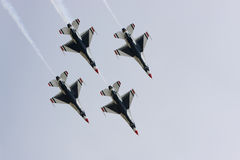 Formation de diamant de Thunderbirds de l'U.S. Air Force Photo libre de droits