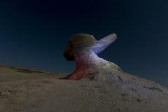 Formation de grès dans Ischigualasto, Argentine photos stock