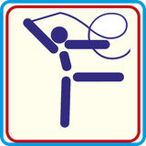Formation de gymnaste de sport, icône, illustrations Photos stock