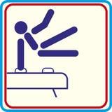 Formation de gymnaste de sport, icône, illustrations Photos libres de droits