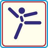 Formation de gymnaste de sport, icône, illustrations Photographie stock libre de droits