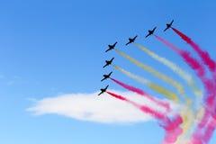 Formation de jets avec de la fumée de couleur Photographie stock