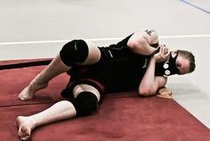 Formation de Judoka avec le masque de HPVT Photo libre de droits