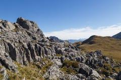 Formation de Karst en parc national de Kahurangi Photos libres de droits