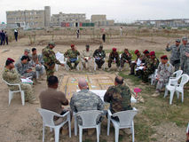 Formation de la police nationale irakienne photo libre de droits