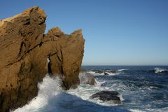 Formation de mer et de roche Images libres de droits