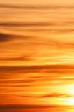 Formation de nuage de coucher du soleil Photographie stock