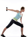Formation de poids de culturisme de forme physique de séance d'entraînement de femme photos libres de droits