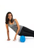 Formation de pratique de muscle de fasce de jeune femme images stock
