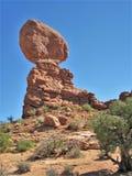 Formation de roche au parc national de voûtes en Utah Photographie stock libre de droits