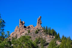 Formation de roche chez Roque Nublo, mamie Canaria Photos libres de droits