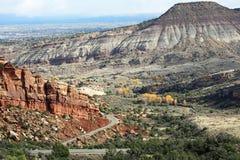 Formation de roche colorée dans le Colorado nanomètre Photo stock