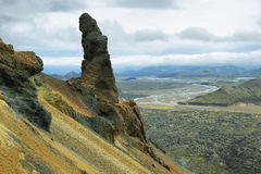 Formation de roche curieuse dans Bennisteinsalda Image stock