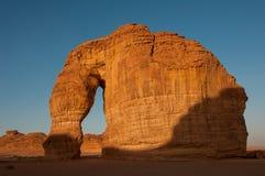 Formation de roche d'Eleplant dans les déserts de l'Arabie Saoudite photographie stock