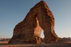 Formation de roche d'Eleplant dans les déserts de l'Arabie Saoudite photographie stock libre de droits