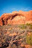 Formation de roche de grès en parc national de voûtes Image libre de droits