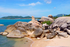 Formation de roche de Hin Ta chez Ko Samui, Thaïlande Images stock