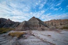 Formation de roche de pyramide en parc national de bad-lands Photo libre de droits