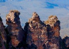 Formation de roche de trois soeurs Images libres de droits