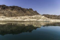 Formation de roche du Lake Mead images libres de droits