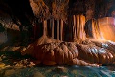 Formation de roche en caverne de Sumaguing dans les Philippiens photos stock