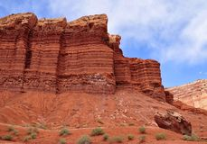 Formation de roche en stationnement national de récif de capitol, Utah Image libre de droits