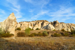 Formation de roche en vallée d'amour Cappadocia La Turquie Photo stock
