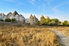 Formation de roche en vallée d'amour Cappadocia La Turquie Images libres de droits