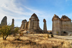 Formation de roche en vallée d'amour Cappadocia La Turquie Photos stock