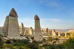 Formation de roche en vallée d'amour Cappadocia La Turquie Images stock
